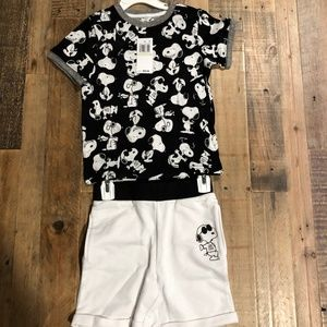 Authentic Peanuts Boys' Snoopy Two Piece Set (4)
